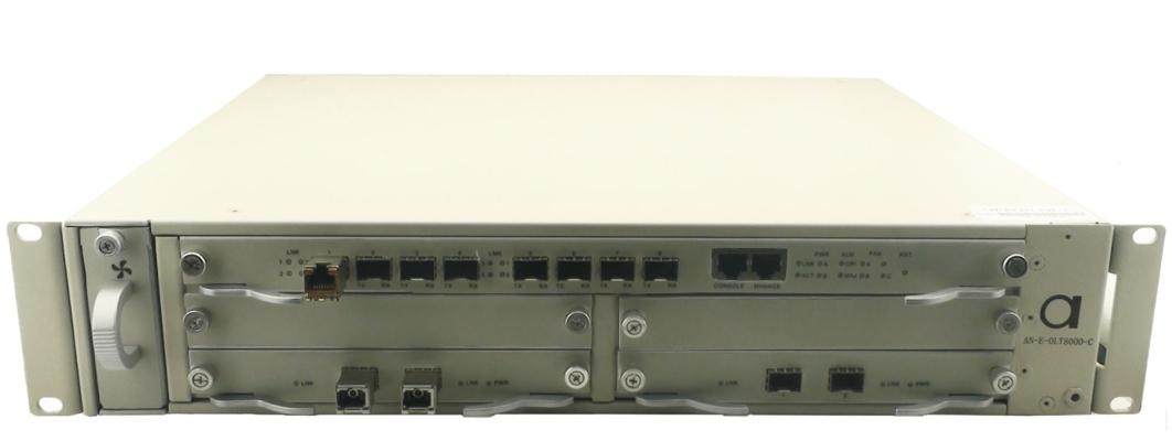 GEPON OLT �C up to 8 port modular PON access unit