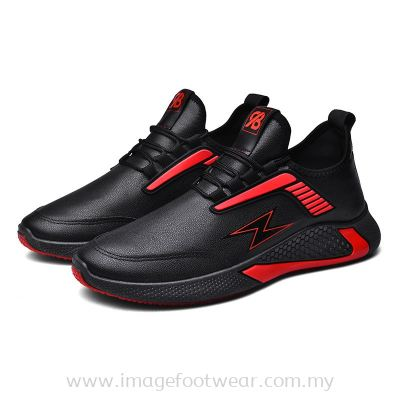 MEN'S LIFESTYLE Running Shoes TL-5 BLACK/RED Colour