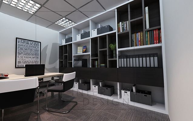 Manager room with special design for the file's cabinet.