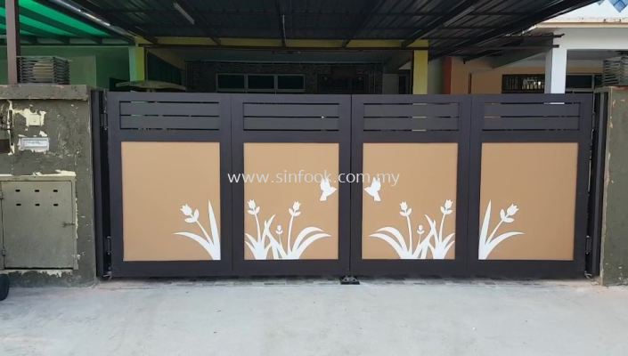 ALUMINIUM TRACKLESS FOLDING GATE