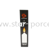 6PCS Black Candle (Long) Candles Lighting Electrical