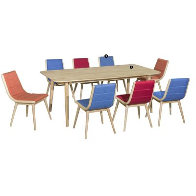 Auckland (1+8) Solid Wood Dining Set