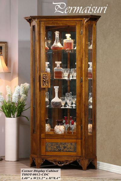 PERMAISURI - CORNER DISPLAY CABINET