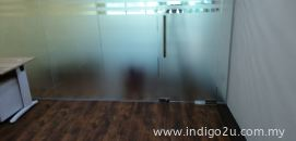 Frosted Film With Cut Line Design