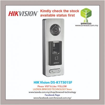 HIK Vision DS-K1T501SF: Pro Series Video and Fingerprint Terminal