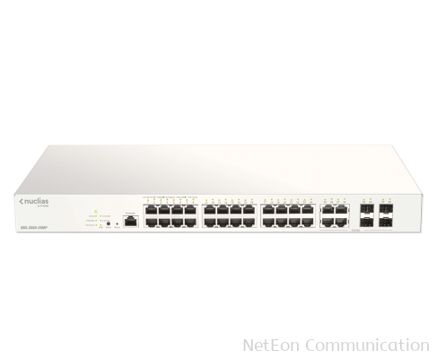 D-Link 28-Port Nuclias Cloud-Managed PoE Switch DBS-2000-28MP