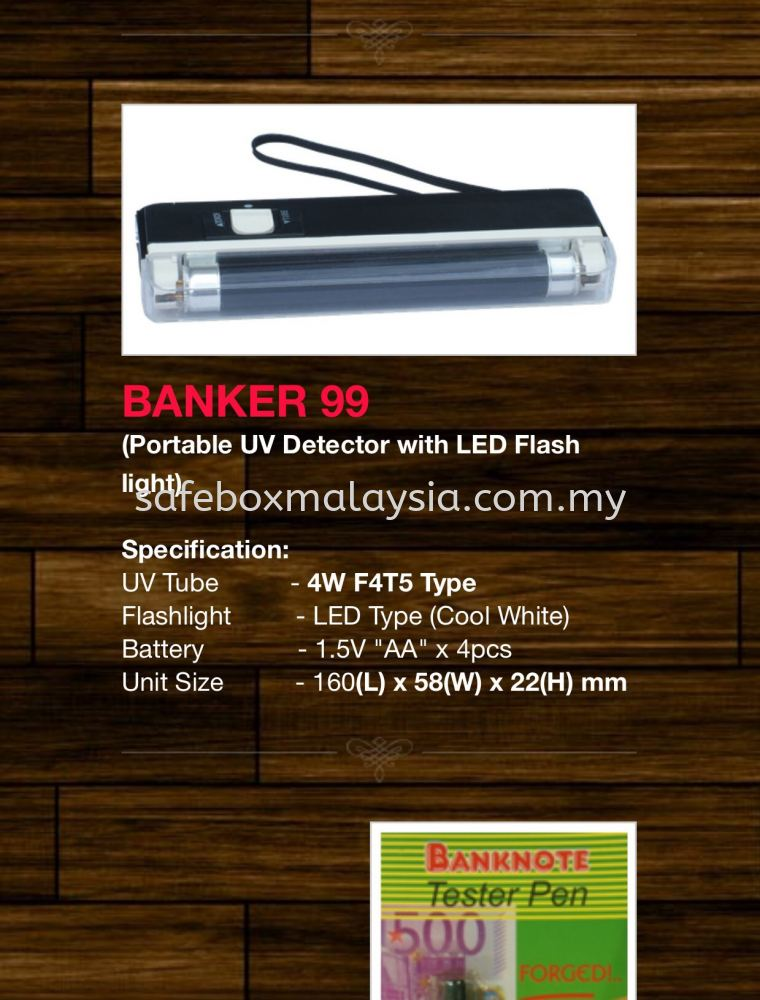 Banker99 Portable Uv Detector With Led Flash