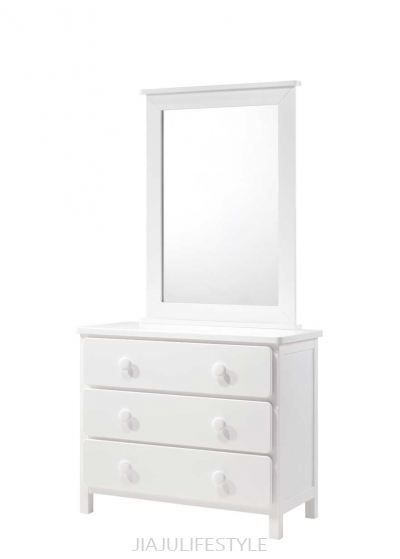 Melody 3 Drawers Dresser with Mirror