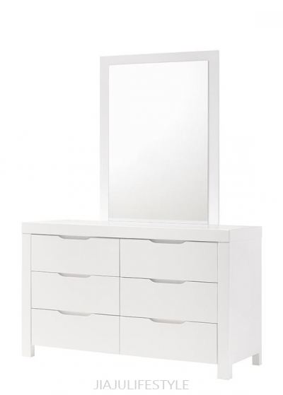 Summer 6 Drawers Dresser with Mirror