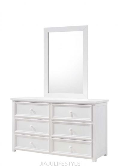 Harmony 6 Drawers Dresser with Mirror