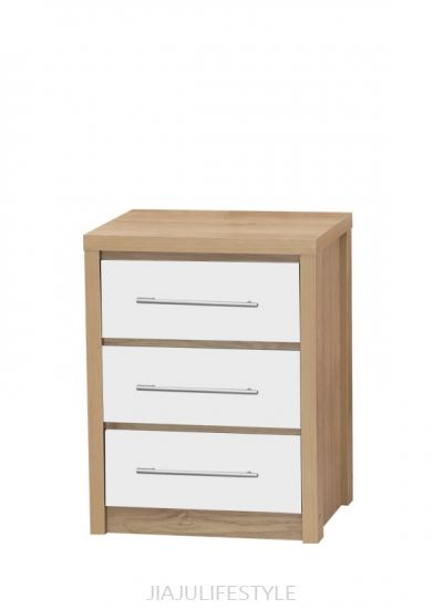 3 Drawer Chest with High Gloss White