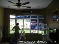 Window Film : Silver / Dark Grey