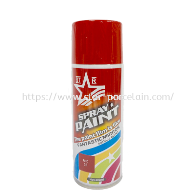 STARCO 400ml Spray Paint (33# Red)