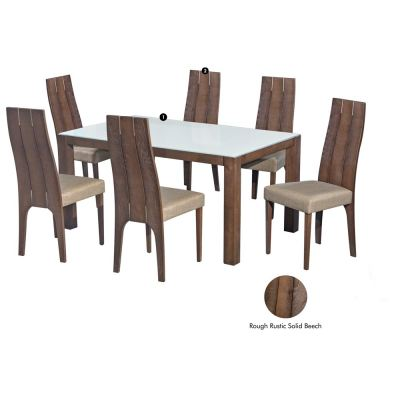 Henly (1+6) Solid Wood Dining Set