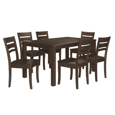 Ibis (1+6) Solid Wood Dining Set