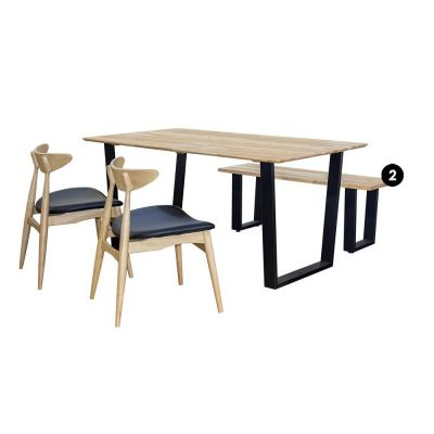 Kingston (1+3) Solid Wood Dining Set