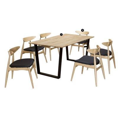 Kingston (1+6) Solid Wood Dining Set