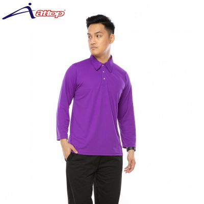 ATTOP COLLAR LONG SLEEVE ALS600A PURPLE