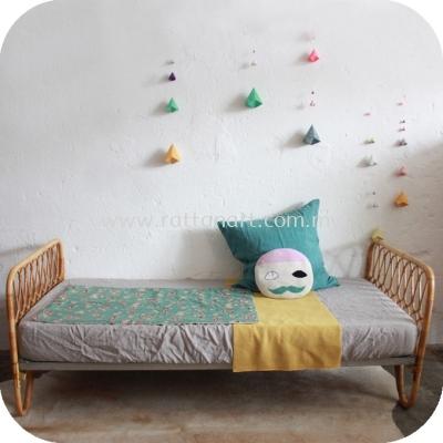 RATTAN SINGLE BED FRAME BREE