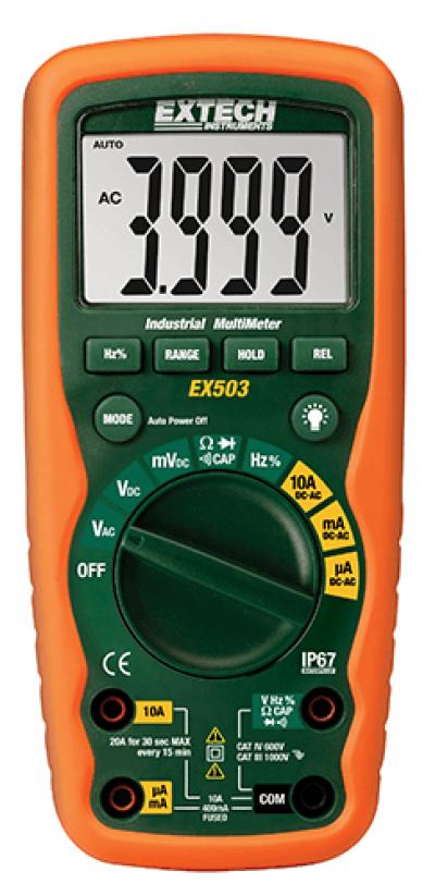 Extech EX503 10 Function Heavy Duty Industrial MultiMeter