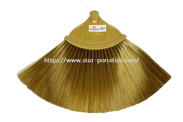601-G Brass Colour Nylon Broom