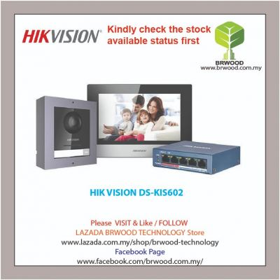 HIK VISION DS-KIS602: IP Video Intercom KIT
