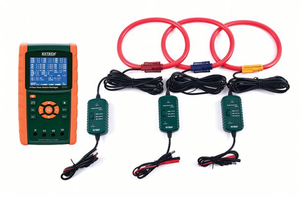 Extech PQ3450-30 3000A Datalogging Power Analyzer Kit