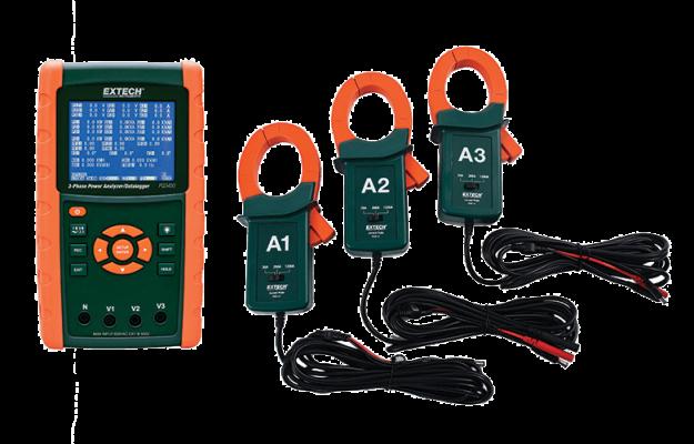 Extech PQ3450-12 1200A Datalogging Power Analyzer Kit