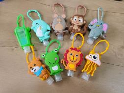 Hand Sanitizer Cute PVC holder with 30ml bottle