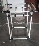 ABS Ivory Pipe 2 Tier Trolley with Dual Handle