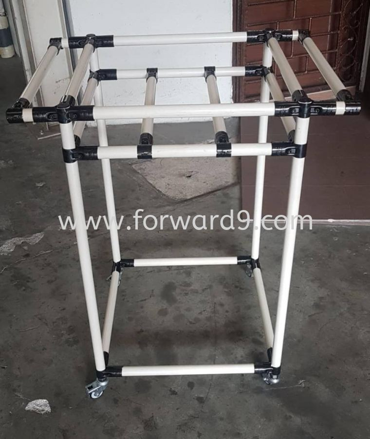 ABS Ivory Pipe & Joint 2 Tier Trolley with Dual Handle  Finished Products Pipe & Joint System Racking System