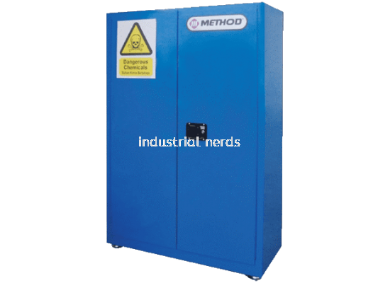Method MC209-45 Blue 45 gallon (170 Liters) Chemical storage cabinet (NOT suitable for SULPHURIC AC