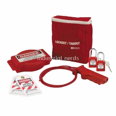 Brady 102692 Gate Valve Lockout Pouch