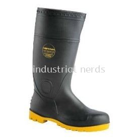 Worksafe Wellington (Vulcan) Boots c/w Steel Toe Cap & Midsole (Black)