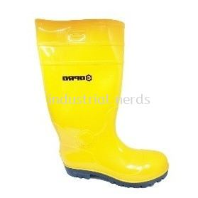 "OPRO 12"" Steel Toe & Steel Plate PVC Safety Wellington Boot Yellow"