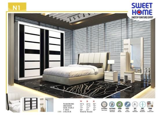 N2 5ft/6ft/8ft Bedroom Set