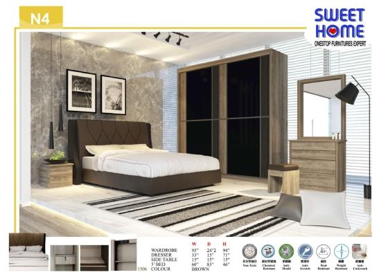 N4 5ft/6ft/8ft Bedroom Set