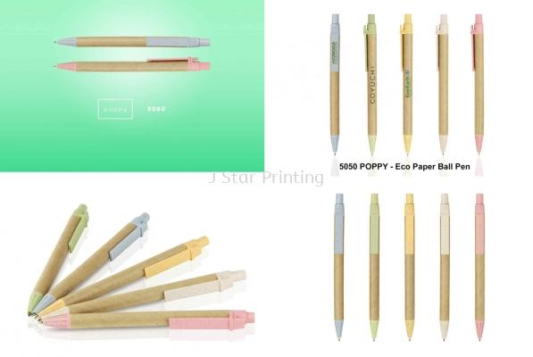 Plastic Pen poppy 5050