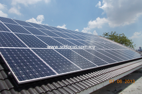 12kWp, Tile Roof Retrofit (Perak)