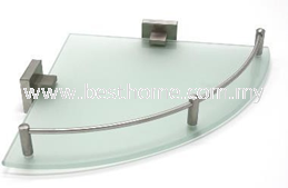 CORNER GLASS SHELF RAL2612A