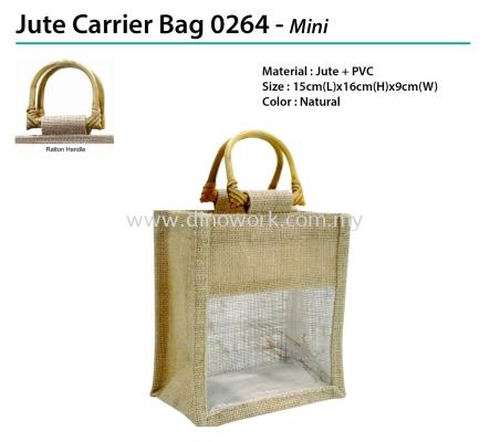 Jute Carrier Bag 0264 - Mini