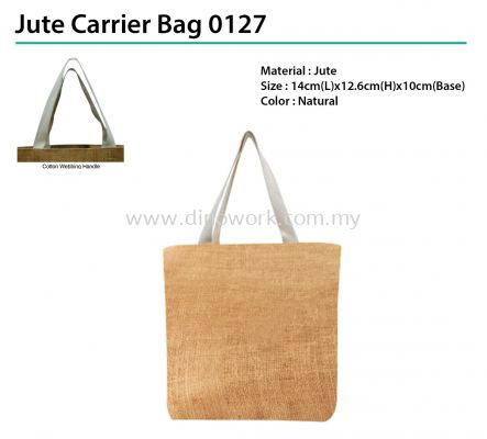 Jute Carrier Bag 0127