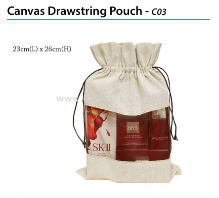 Canvas Drawstring Pouch - C03