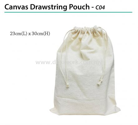 Canvas Drawstring Pouch - C04