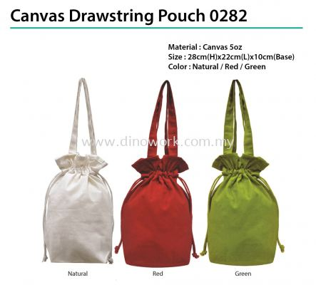 Canvas Drawstring Pouch 0282