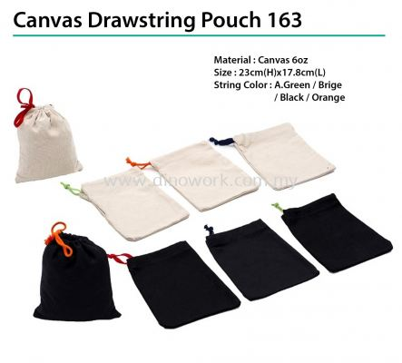 Canvas Drawstring Pouch 163