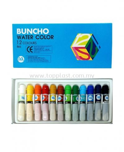 Buncho Water Color 6cc 12colors