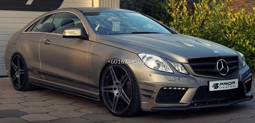 mercedes benz w207 coupe bodykit front bumper prior style for w207 replace upgrade performance look frp fiber material new set