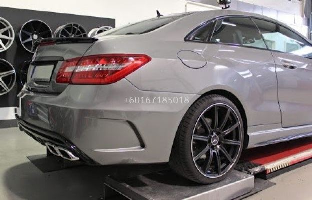 mercedes benz rear bumper w207 coupe bodykit prior style for w207 replace upgrade performance look frp fiber mat