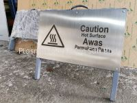 STAINLESS STEEL HAIRLINE WITH LASER ENGRAVE A STAND SIGNAGE